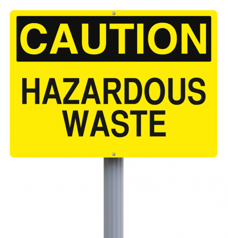 Caution-hazardous-waste-sign
